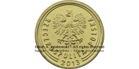 1 grosz 2013 r. The Royal Mint Londyn